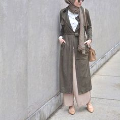 olive long vest hijab outfit- Hijab fashion guide 2016 http://www.justtrendygirls.com/hijab-fashion-guide-2016/