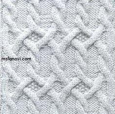 Рельефный узор спицами №37