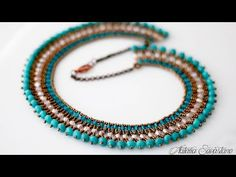 Beaded Statement Necklace, Beaded Jewelry, Beaded Bracelets, Beaded Earrings, Beaded Cross Stitch, Bib Necklaces, Necklace Tutorial, Beading Tutorials, Collar Necklace