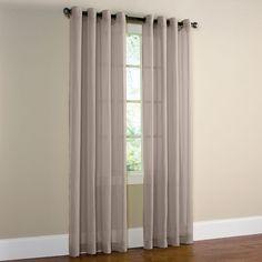 Semi Sheer Gray Curtains To Embellish