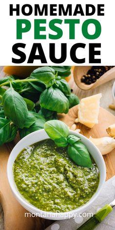 Winter Dinner Recipes, Delicious Dinner Recipes, Appetizer Recipes, Appetizers, Delicious Food, Perfect Pesto Recipe, Homemade Pesto Sauce, How To Make Pesto, Best Food Ever