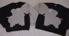 ELEPHANT TRUNK SLEEVES! So getting these for me and my boyfriend! When you hold hands the elephant trunks cross! So cute! <3