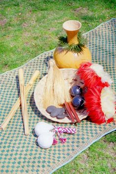 Maya's FIRST Birthday - Hawaiian Luau! ......hula instruments