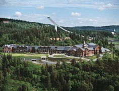 Holmenkollen Hotel and ski jump - outside of Olso, Norway