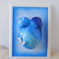 Pregnant Belly Cast, Belly Casting, Baby Belly, Frame, Decor, Baby Crafts, Invitations, Birth, Picture Frame