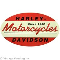 #Vintage Harley Davidson 1903 Oval Tin Sign
