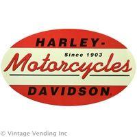 #Vintage Harley Davidson 1903 Oval Tin Sign   http://www.retroplanet.com/PROD/28143