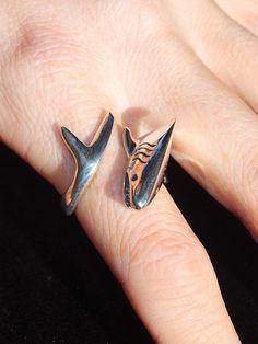 On Sale whale shark mens ring womens ring hawaiian jewelry sharkjewelry LARGE WHALE SHARK Ring sizes 7-13 shark