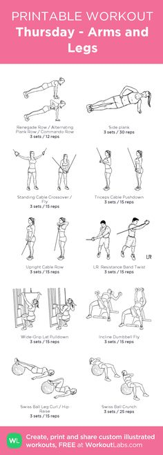 Thursday - Arms and Legs: my custom printable workout by @WorkoutLabs #workoutlabs #customworkout