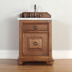 James Martin 26-inch Single Brown Bathroom Vanity