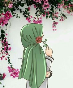 Thinking of you my darling husband mmmm ? Hijab Drawing, Islamic Cartoon, Lovely Girl Image, Anime Muslim, Hijab Cartoon, Islamic Girl, Girly Drawings, Cute Girl Wallpaper, Islamic Wallpaper