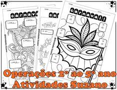Carnaval, operações do 2º ao 5º anos - Atividades Adriana