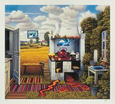 Jacek Yerka,  Perturbation In The Kitchen