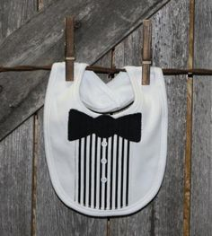 Bow Tie Infant Baby Bib by CreationsoftheHeart for $10.00