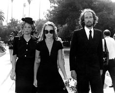 Cass Elliot's Funeral | 1974 | Michelle Phillips, John Phillips, and Genevieve Waite at the funeral