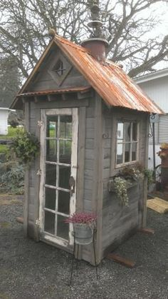 Rustic Garden Shed... Tyler please build me this! Love it!