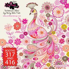 A little much but a simplified version of thsi would be gorgeous... print & pattern: SURTEX 2012 - pink light   studios
