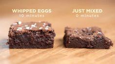 Here's Exactly How To Make The Best Brownies Of Your Life – Kuchen und Desserts Köstliche Desserts, Delicious Desserts, Dessert Recipes, Yummy Food, Plated Desserts, Brownie Recipes, Cookie Recipes, Beste Brownies, Fudgy Brownies