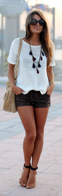 White Knit Top                                                                             Source