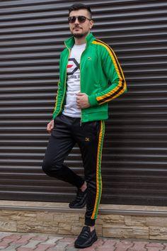 Cautare dupa: Trening EX Verde-Ocru-Negru Bomber Jacket, Slim, Kpop, Adidas, Jackets, Style, Fashion, Lab Coats, Fashion Clothes
