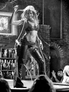 Jessica Alba sexy Cowgirl; reminds me of the movie Coyote Ugly and the girls dancing on the bar