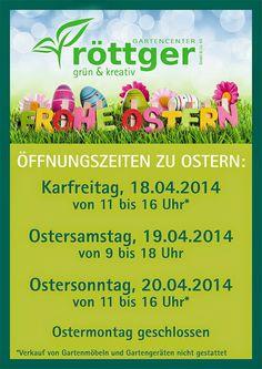 röttger Garten-Center GmbH & Co. KG – Google+ Öffnungszeiten Ostern 2014