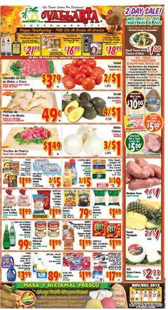 Vallarta Weekly Ad Flyer November 25 - December 1, 2015 - http://www.olcatalog.com/grocery/vallarta-weekly-ad-fleyer.html