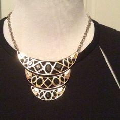 Black & Gold Tone Statement Necklace Black & Gold tone statement necklace. In great condition. Jewelry Necklaces