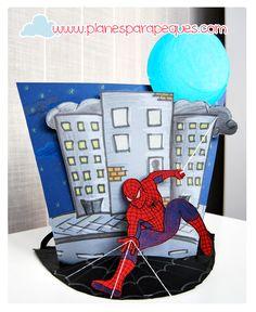 www.planesparapeques.com Sombrero de Spiderman
