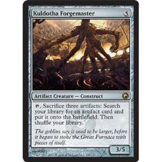 Magic: the Gathering - Kuldotha Forgemaster - Scars of Mirrodin Magic: the Gathering http://smile.amazon.com/dp/B0045H2YDK/ref=cm_sw_r_pi_dp_gMxSvb1T3YK2D