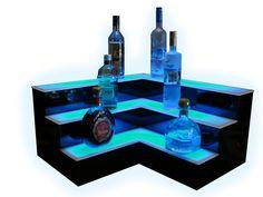 Liquor Display | Bar Shelves | Bottle Display | LED Furniture Lighted Mobile Bars - Customized Designs