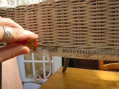 Vintage Resurrections: A Wicker Chair Makeover..... French-Style!