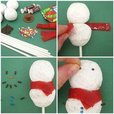 edible christmas tablescape | Dollhouse Bake Shoppe: Happy Groundhog's Day & A Simple Snowman Pop ...