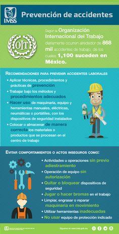 Recomendaciones para evitar accidentes en el trabajo.