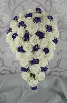 Cadbury Purple Bridal Bouquet, Wedding, Flowers, Bridesmaids, Flower Girl | eBay