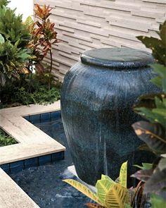 Fonte d´água – Dica de decoração belíssima para um jardim espetacular - definitivamente eu quero um