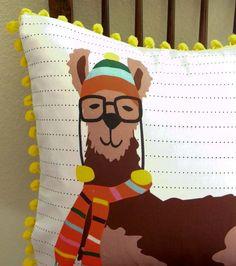 Llook Llamas - DIY Pillow Panel from Scarlet Fig on Etsy.