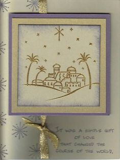 Gold City of David by stampinroo - Cards and Paper Crafts at Splitcoaststampers