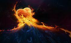 Coeur en flammes