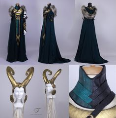 Based on the beautiful artwork of Deviantart artists Medusa Dollmaker s Art Nouveau Lady Loki (thank you so much for giving permission to my client! ) the faux fur a. Lady Loki Cosplay, Loki Costume, Marvel Cosplay, Marvel Fashion, Look Dark, Fantasy Gowns, Halloween Disfraces, Character Outfits, Mode Inspiration