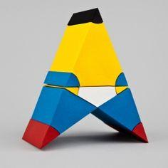 Series of paper sculptures representing Euclid's Elements