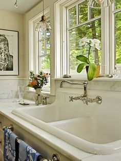 Farmhouse Sink With Drainboard Ideas, Pictures, Remodel and Decor