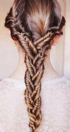 Wonderful twisted braid (Hungarian) How beautiful.