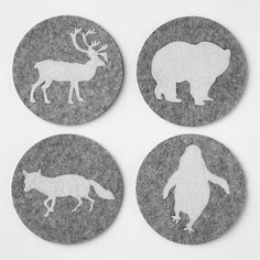 animal coasters from West Elm