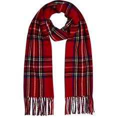 http   www.riverisland.fr femme accessoires écharpes Écharpe -Façon-Couverture-À-Motif-Écossais-Rouge d2893197f37