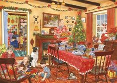 unexpected guest christmas painting by tracy hall