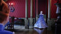 Elsa and Anna winter dress design gifs for the new short film