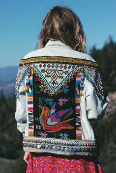 Wild and Free jacket. So much embroidered and embellished color. Piece of art.