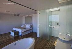 Baño y dormitorio forman un gran ambiente