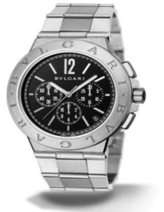 Bulgari Diagono Velocissimo Steel Chrono Date Mens Watch DG41BSSDCH
